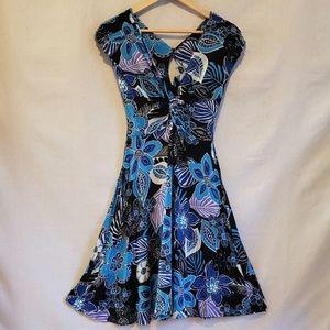 Italian Sandro Ferrone Stretchy Floral Dress M L